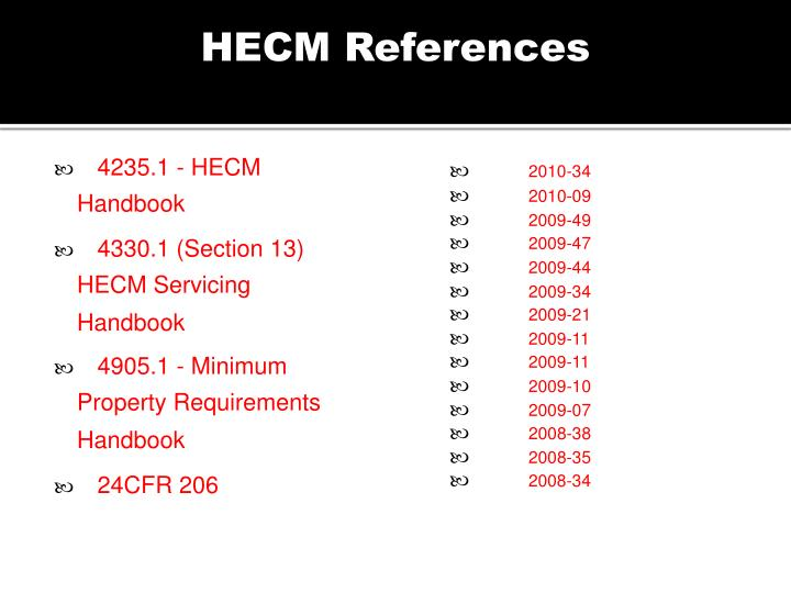 HECM References