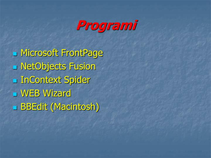 Programi