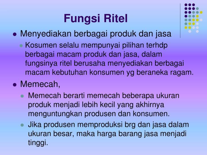 Fungsi Ritel