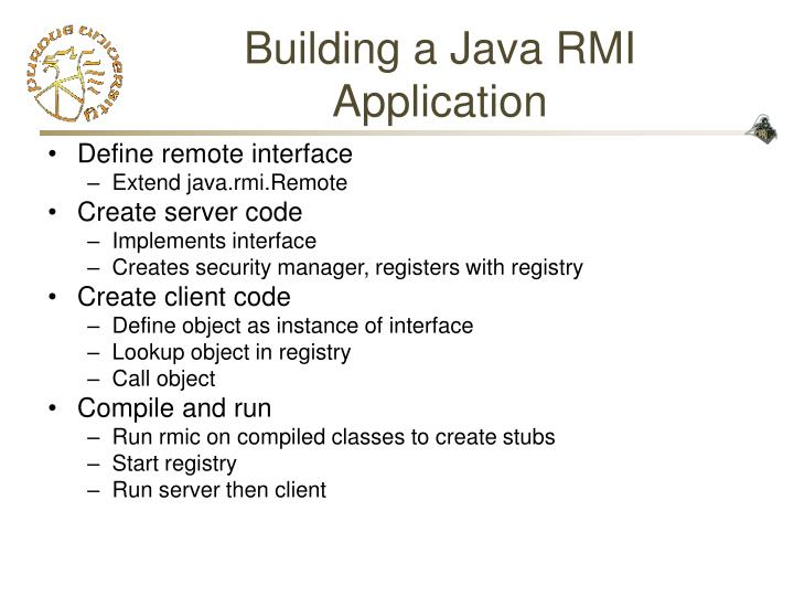 Building a Java RMI Application