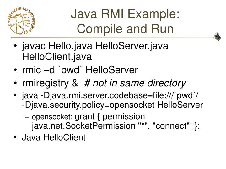 Java RMI Example:
