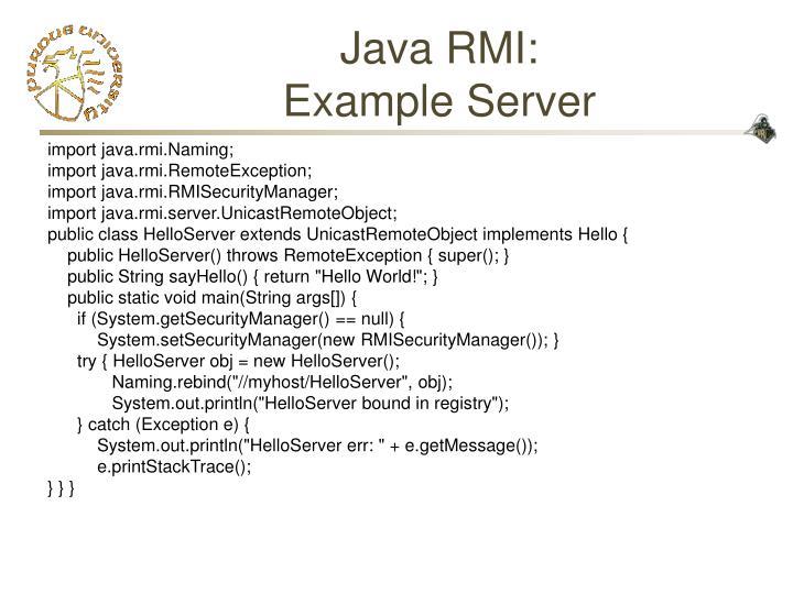 Java RMI: