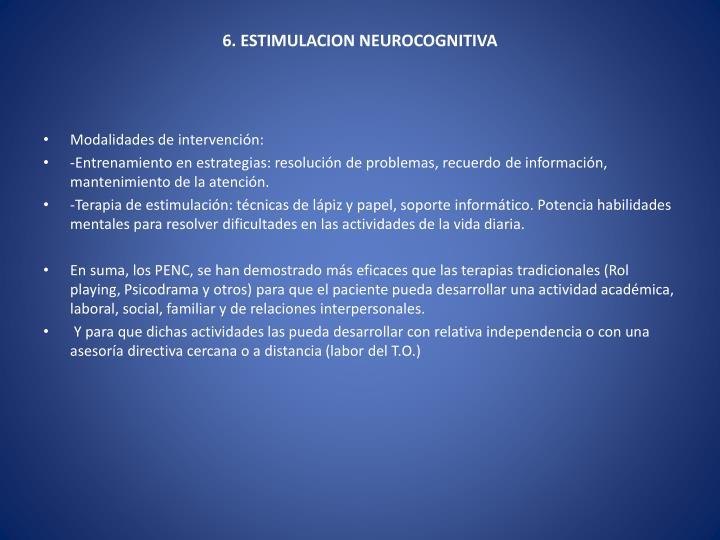6. ESTIMULACION NEUROCOGNITIVA