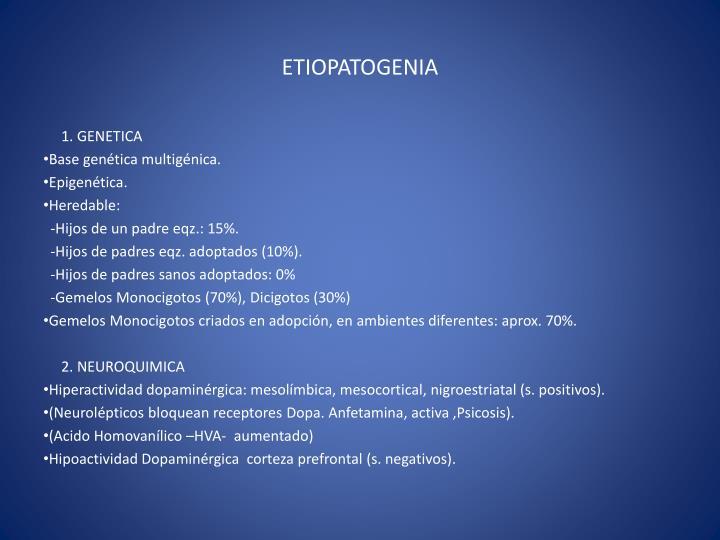 ETIOPATOGENIA