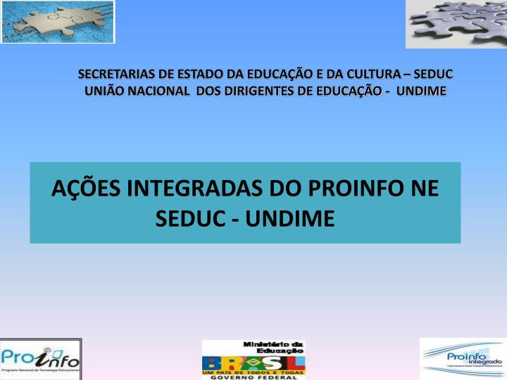 A es integradas do proinfo ne seduc undime