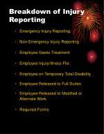 breakdown of injury reporting
