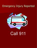 emergency injury reported