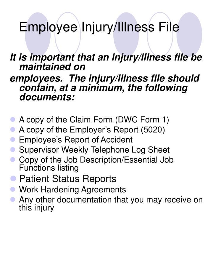 Employee Injury/Illness File