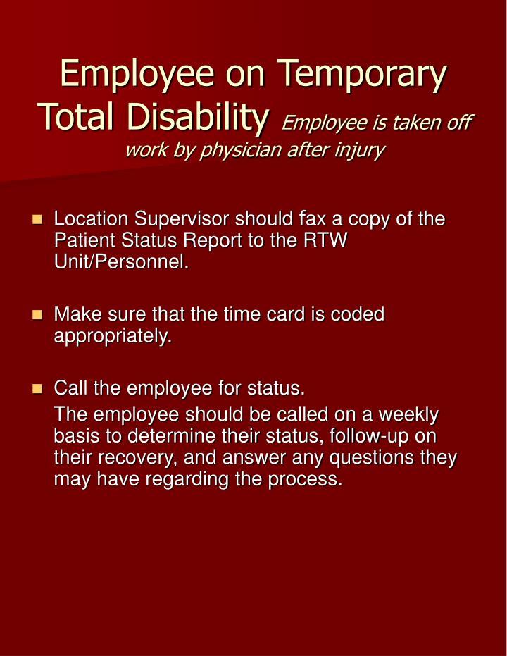 Employee on Temporary