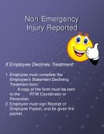 non emergency injury reported