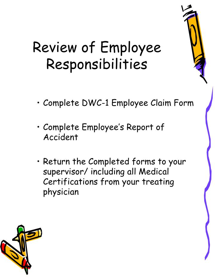Review of Employee Responsibilities