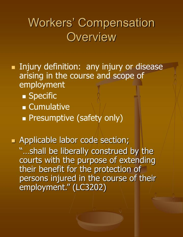 Workers' Compensation Overview