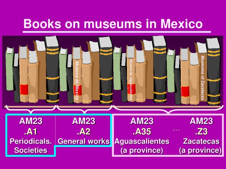 Books on museums in Mexico