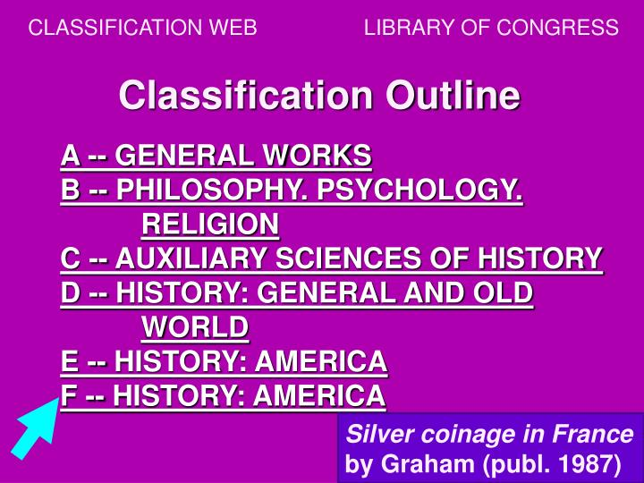 CLASSIFICATION WEB