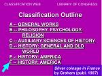 classification outline
