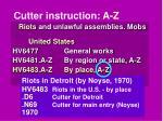 cutter instruction a z