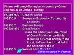 finance money by region or country other regions or countries europe