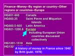 finance money by region or country other regions or countries europe1