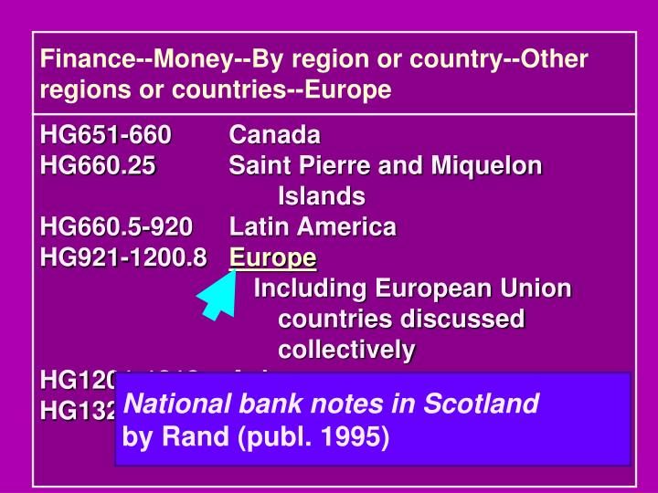 Finance--Money--By region or country--Other regions or countries--Europe