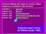 finance money by region or country other regions or countries latin america1