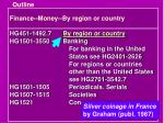 finance money by region or country