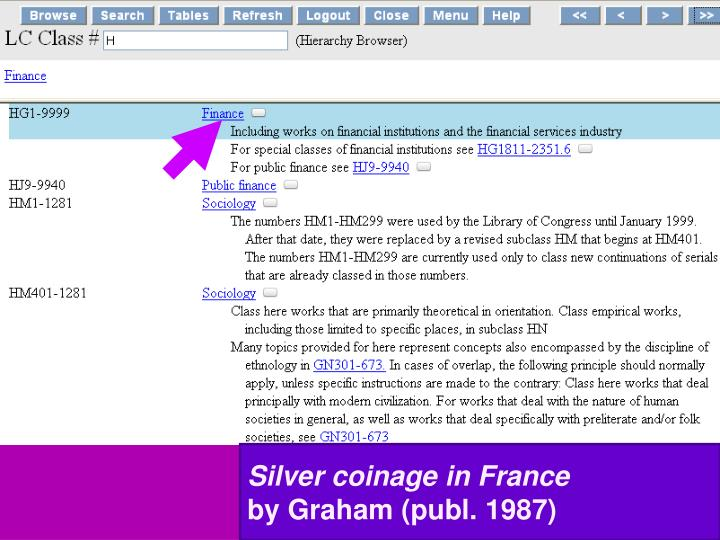 Silver coinage in France
