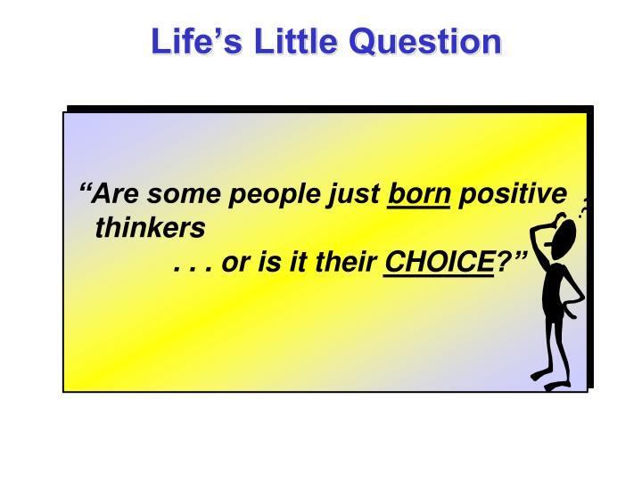Life's Little Question