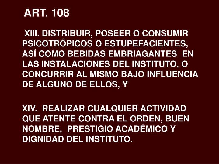 ART. 108
