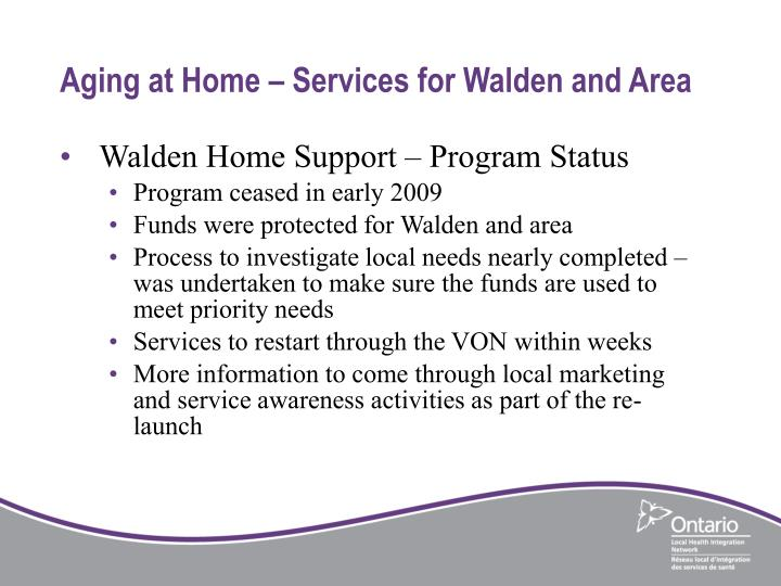 Aging at Home – Services for Walden and Area