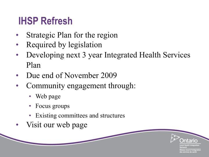 IHSP Refresh