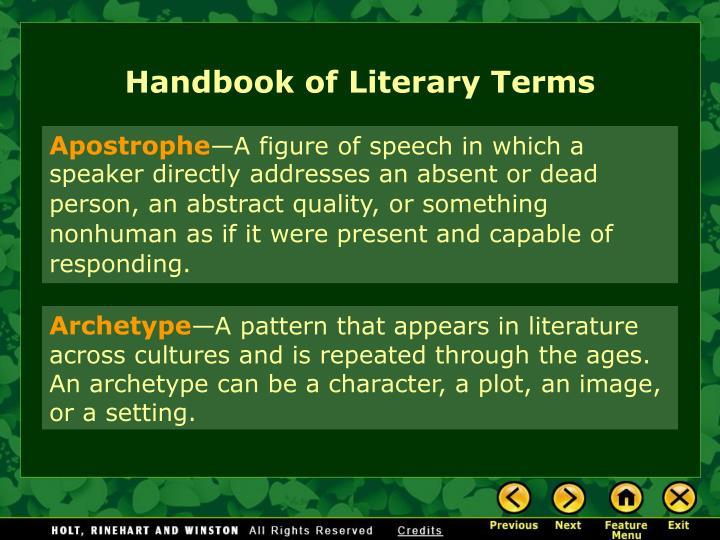 Handbook of Literary Terms