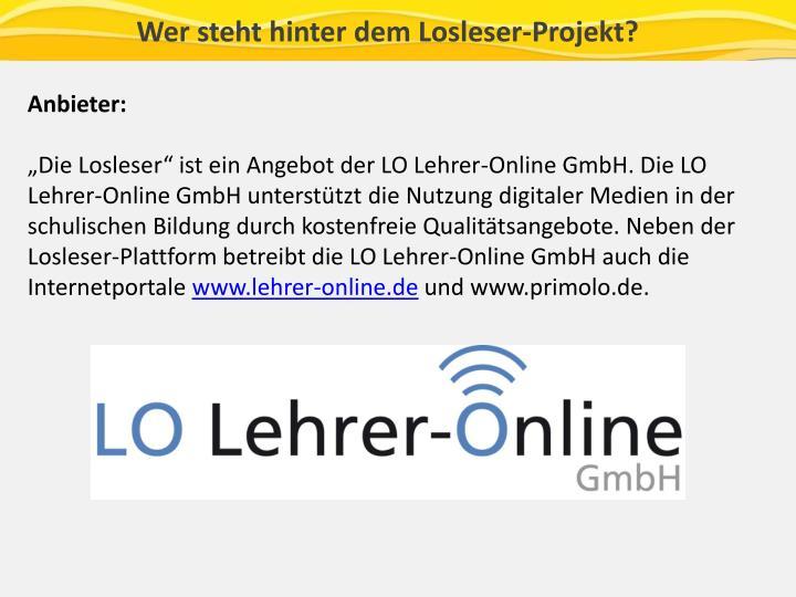 Wer steht hinter dem Losleser-Projekt?