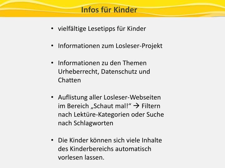 Infos für Kinder