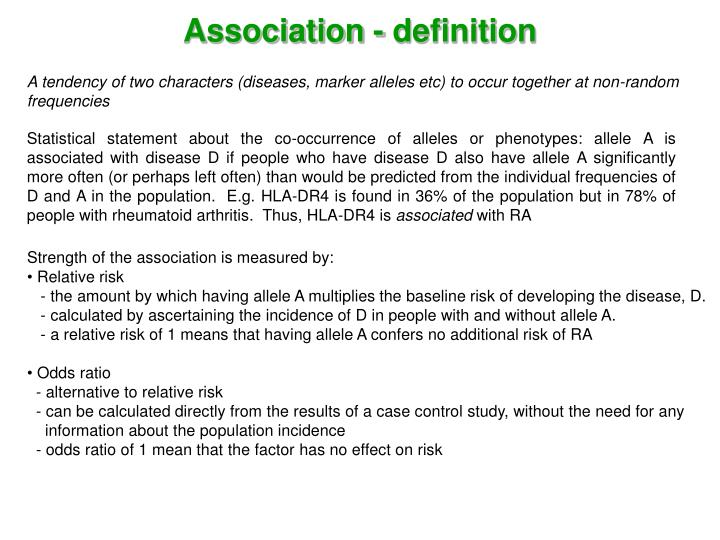 Association - definition