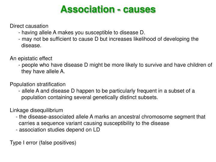 Association - causes