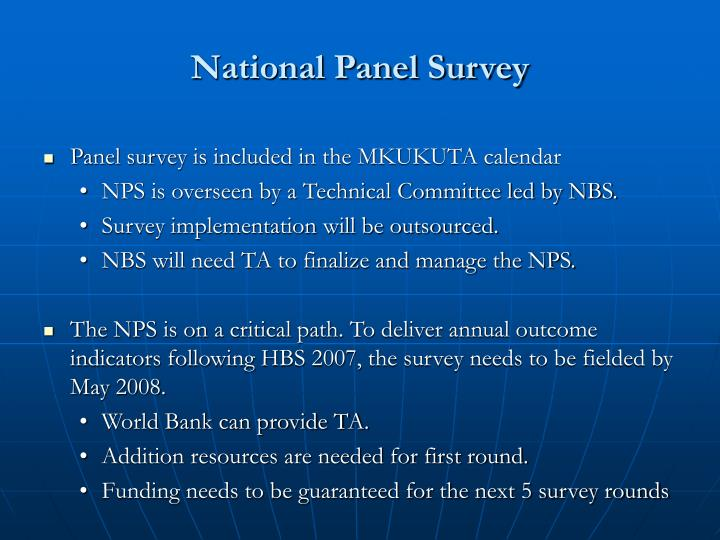 National Panel Survey