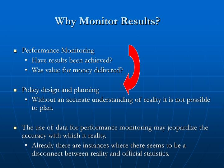 Why monitor results