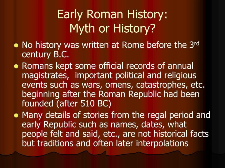 Early Roman History: