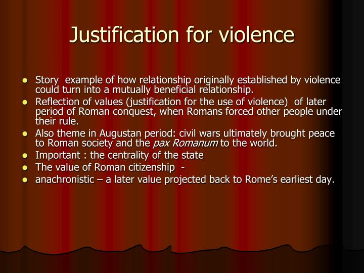 Justification for violence