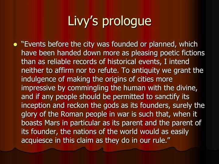 Livy's prologue
