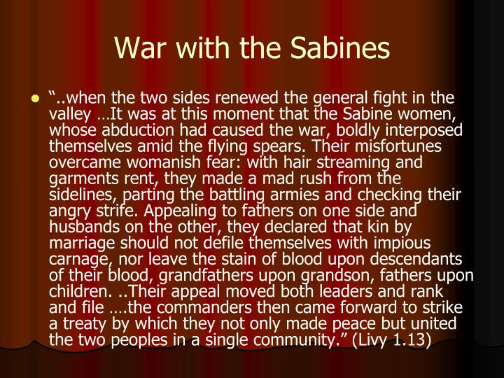 War with the Sabines