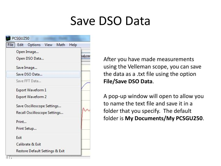 Save DSO Data