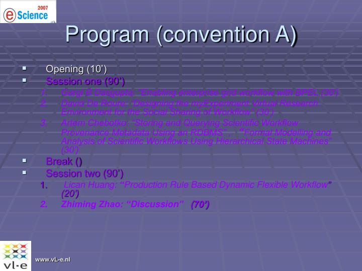 Program (convention A)