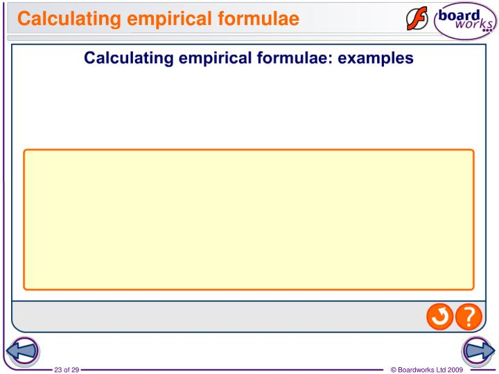 Calculating empirical formulae