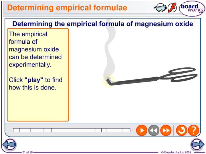 Determining empirical formulae