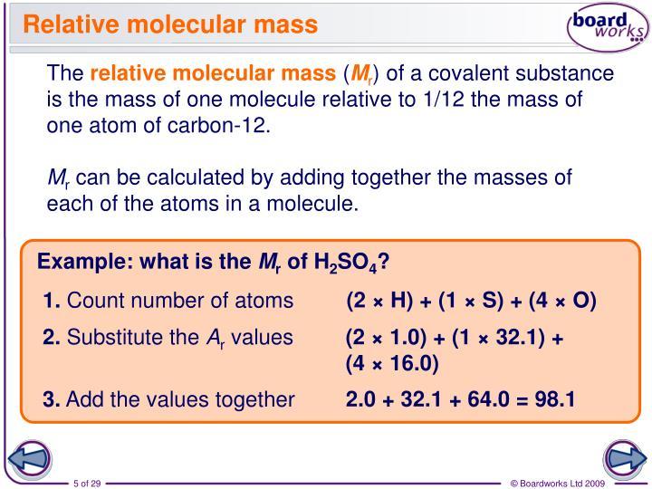 Relative molecular mass