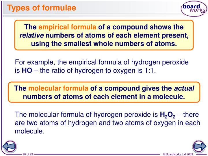 Types of formulae