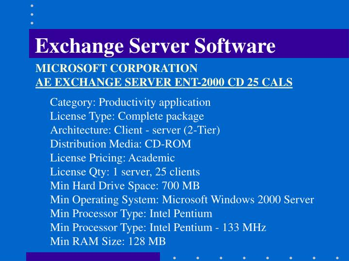 Exchange Server Software
