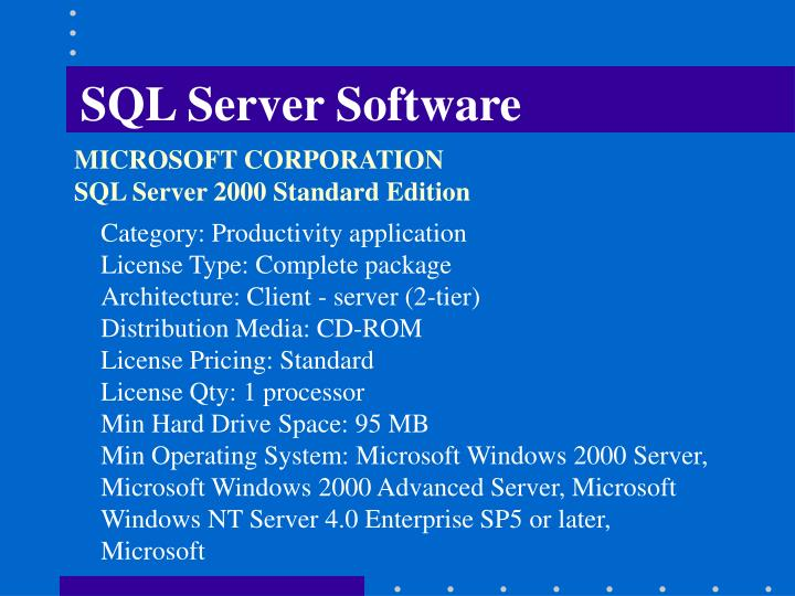 SQL Server Software
