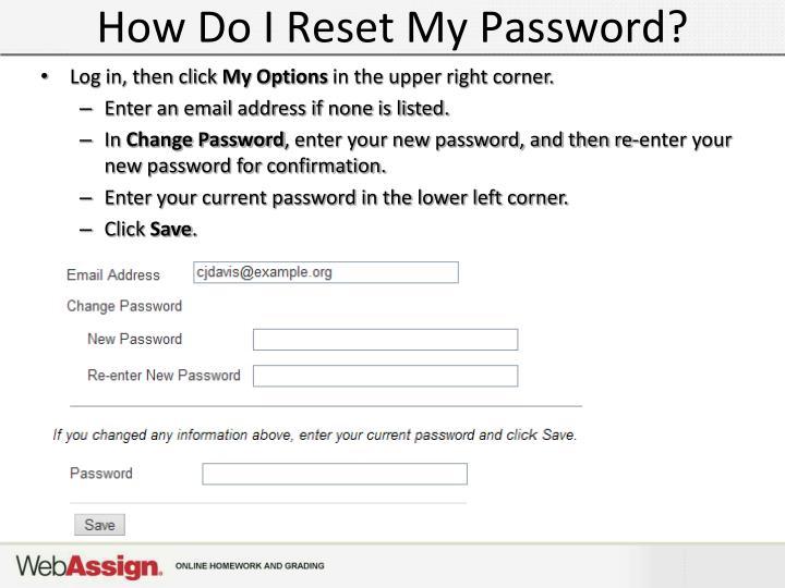 How Do I Reset My Password?